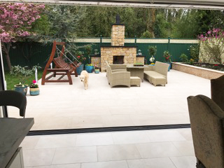 Home extension in Kildare - patio area